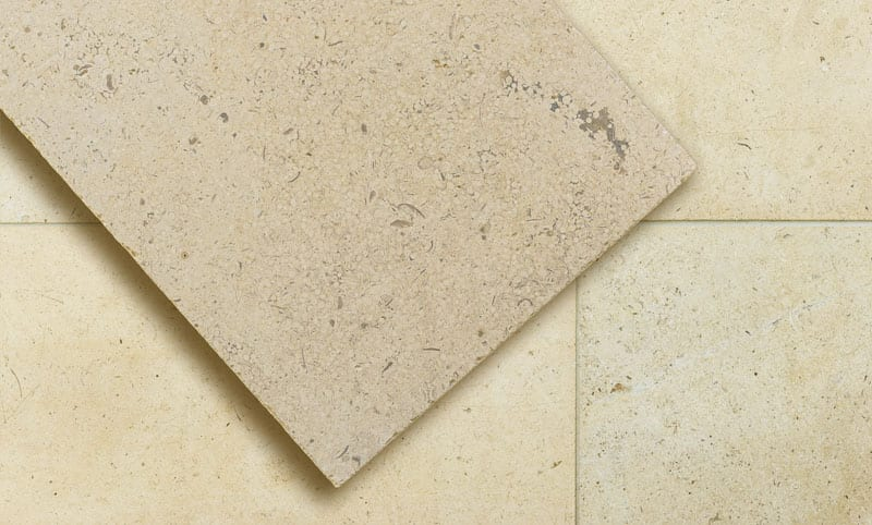 walcott honed limestone flooring
