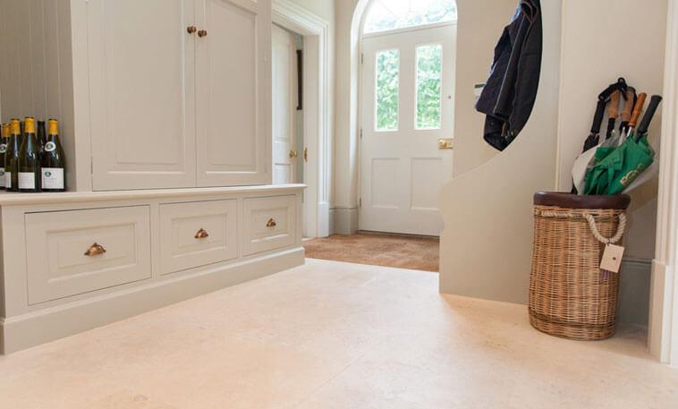 hallway stone flooring