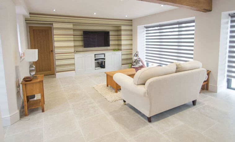 stamford stone flooring in stylish living area