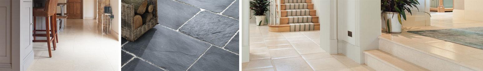 Interior stone flooring