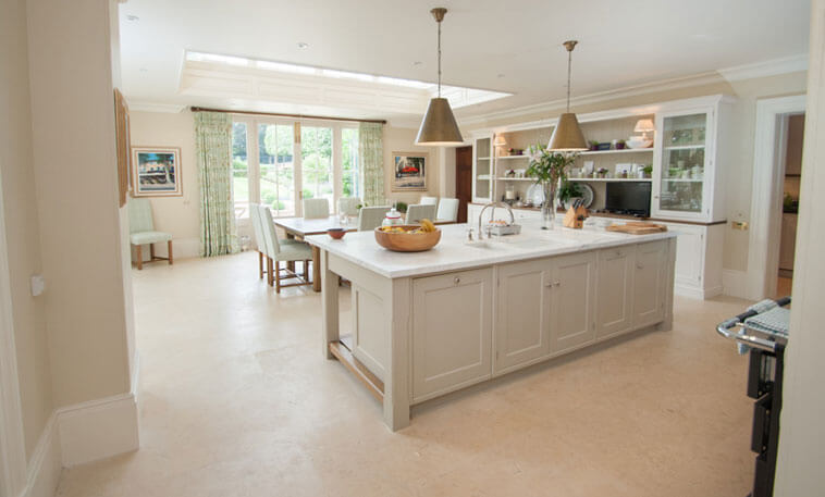 shaker style kitchen stamford stone flooring