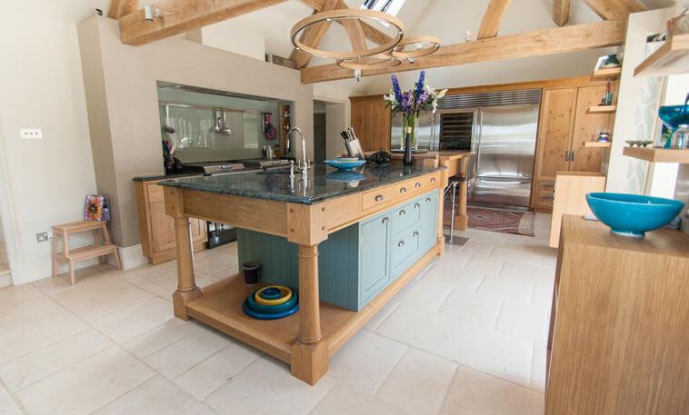 classic kitchen stamford stone flooring