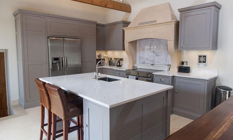 modern limestone cooker hood