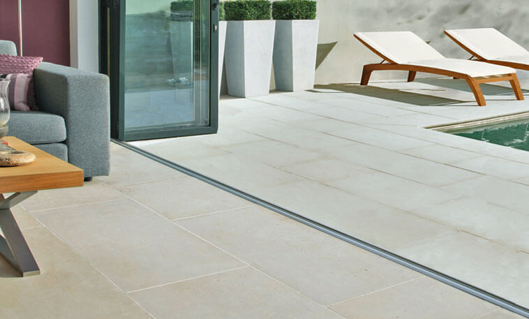 contemporary hard wearing limestone flooring