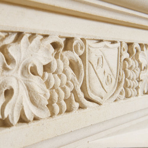 bespoke limestone fireplaces carving detail