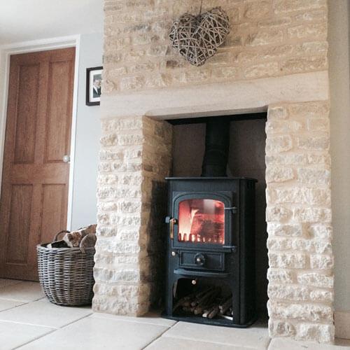 bespoke inglenook stone fireplace