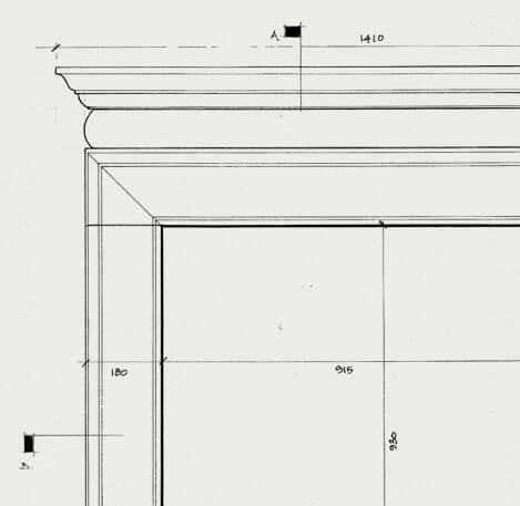 the bainton fireplace cad
