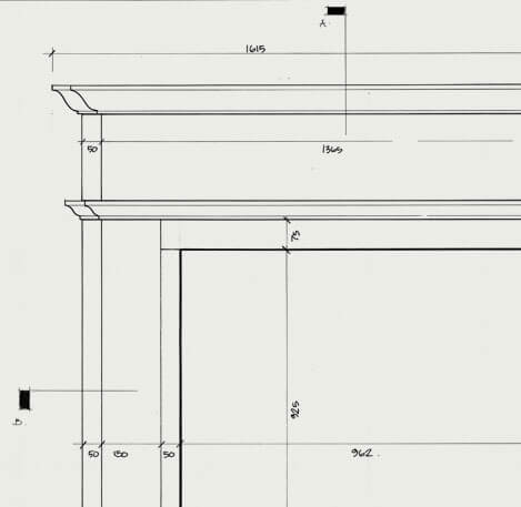 the barnack fireplace cad