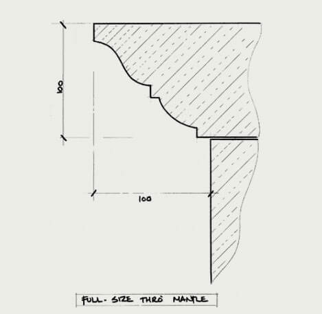 the burghley fireplace cad2
