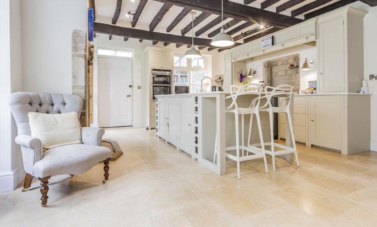 Audbourn Distressed Stone Flooring kitchen