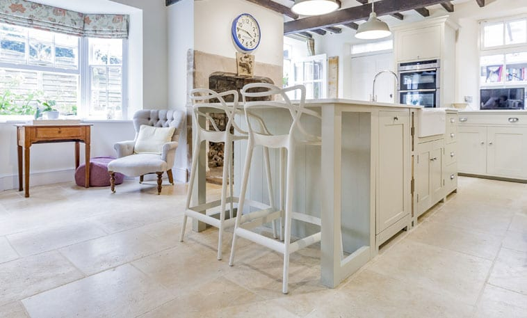 Audbourn Distressed Stone Flooring kitchen 2