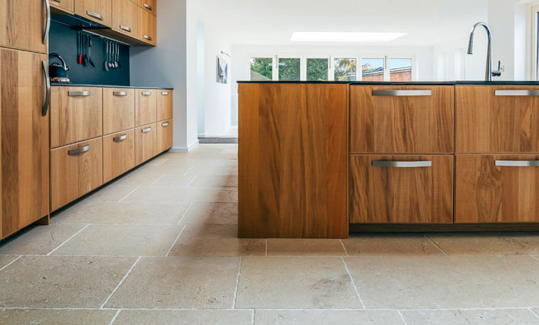 jurassic limestone flooring kitchen