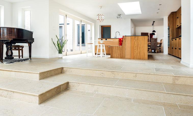 hallway kitchen jurassic limestone