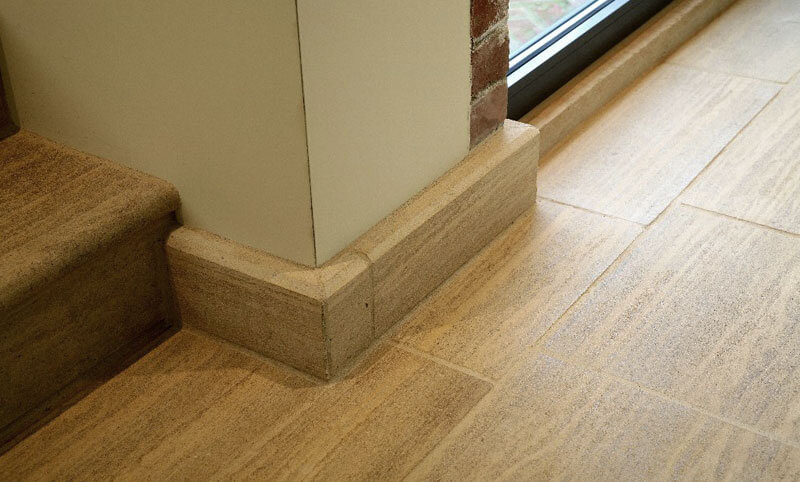 limestone skirting board corner detail