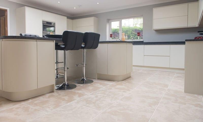 normandy buff limestone flooring kitchen