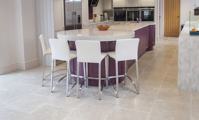 normandy grey limestone flooring kitchen