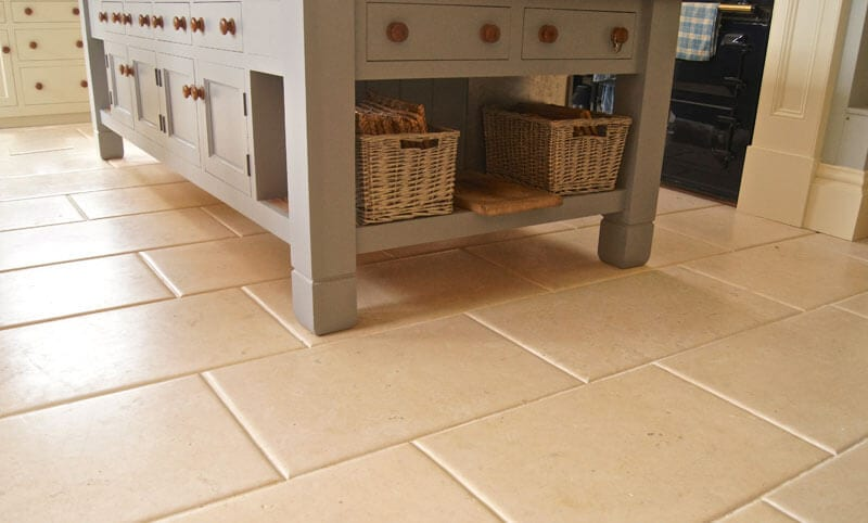 walcott aged limestone kitchen