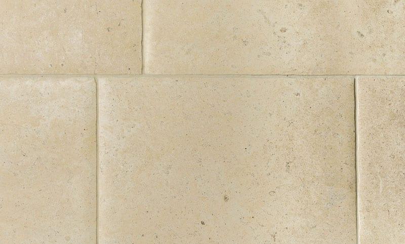 Walcott limestone flooring aged