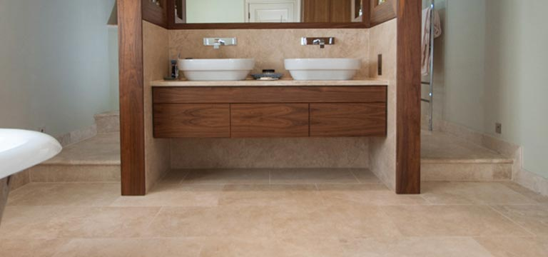 Natural limestone tiles coming bathroom near you