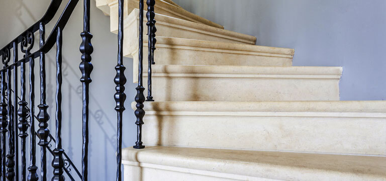 bespoke stone staircase components