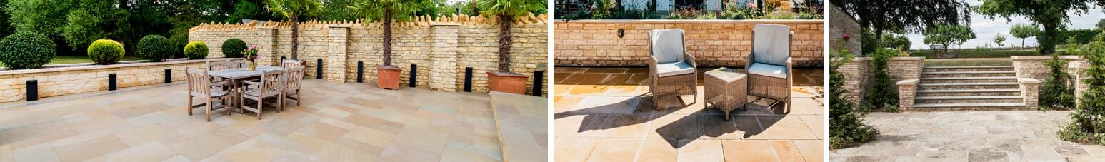 exterior stone paving limestone slabs details