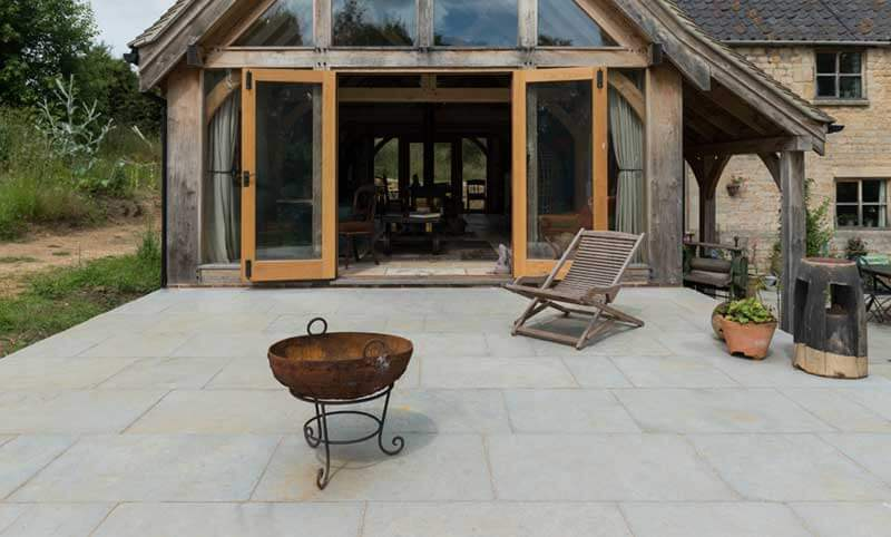 heritage ash limestone patio