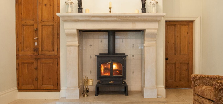 why choose a limestone fireplace