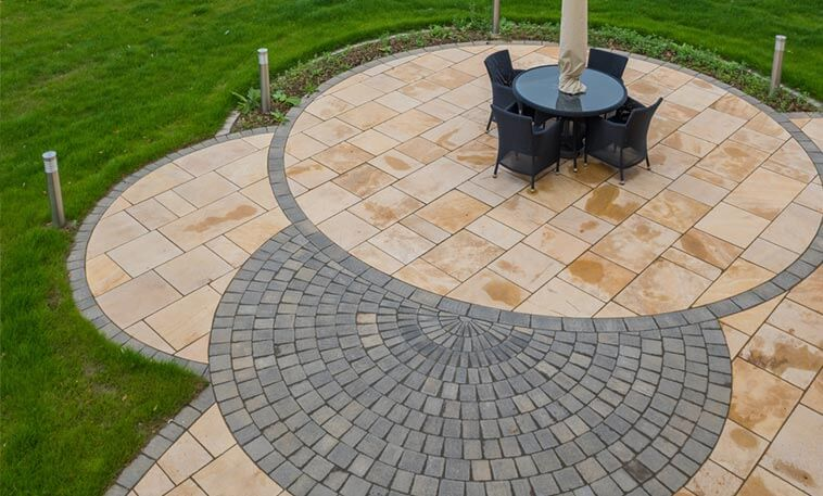 cathedral gold paving patio